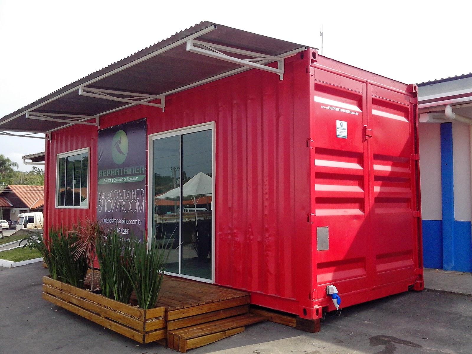 Projetos e Comércio de Containers: CASA CONTAINER SHOWROOM #AF1C32 1600x1200 Banheiro De Container