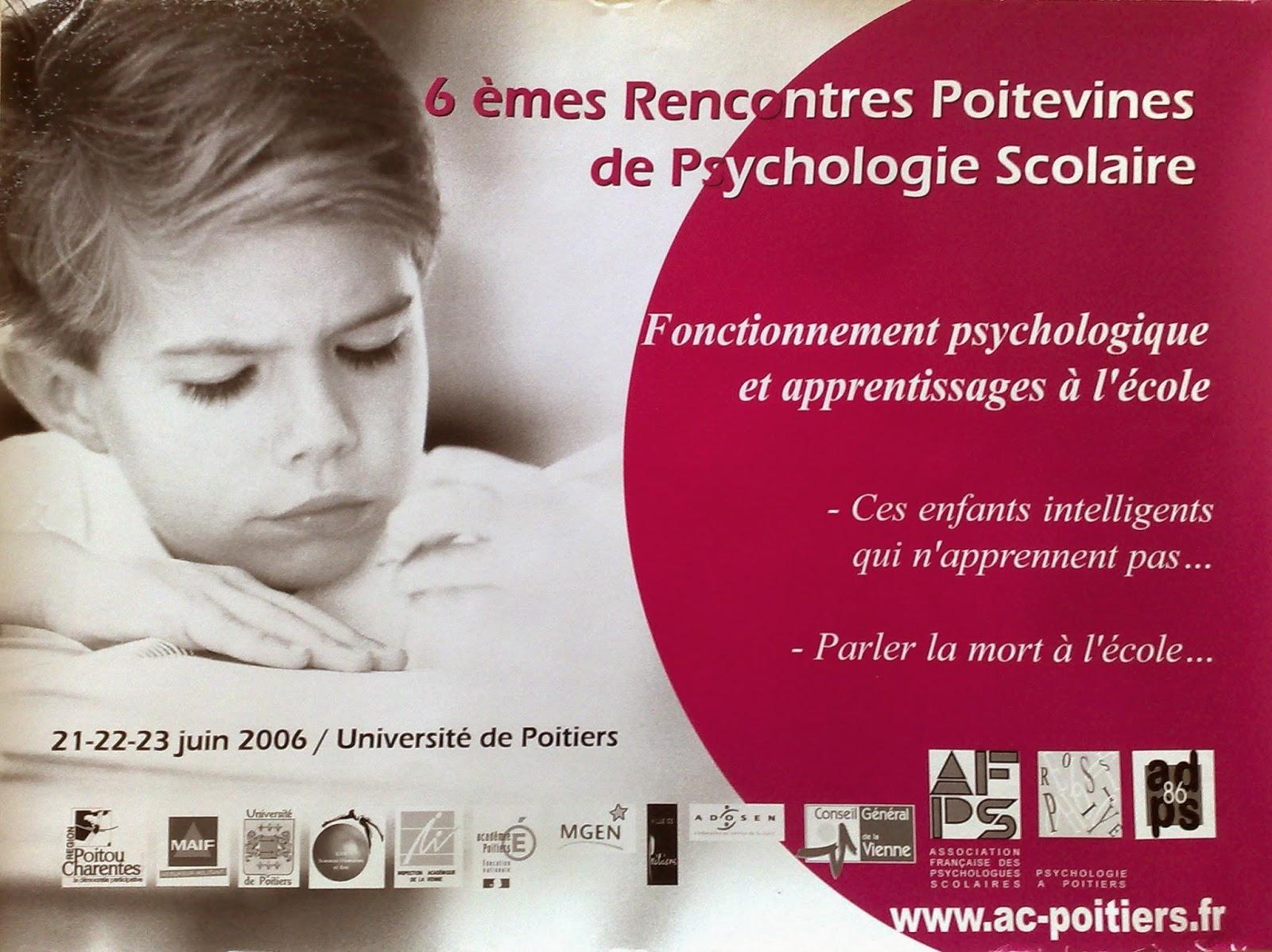 Rencontre poitevine de psychologie scolaire