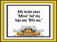 "Moj mozog horovi: ""pohyb"", ale moja nohy odpovedaju: ""Trhni si!"""