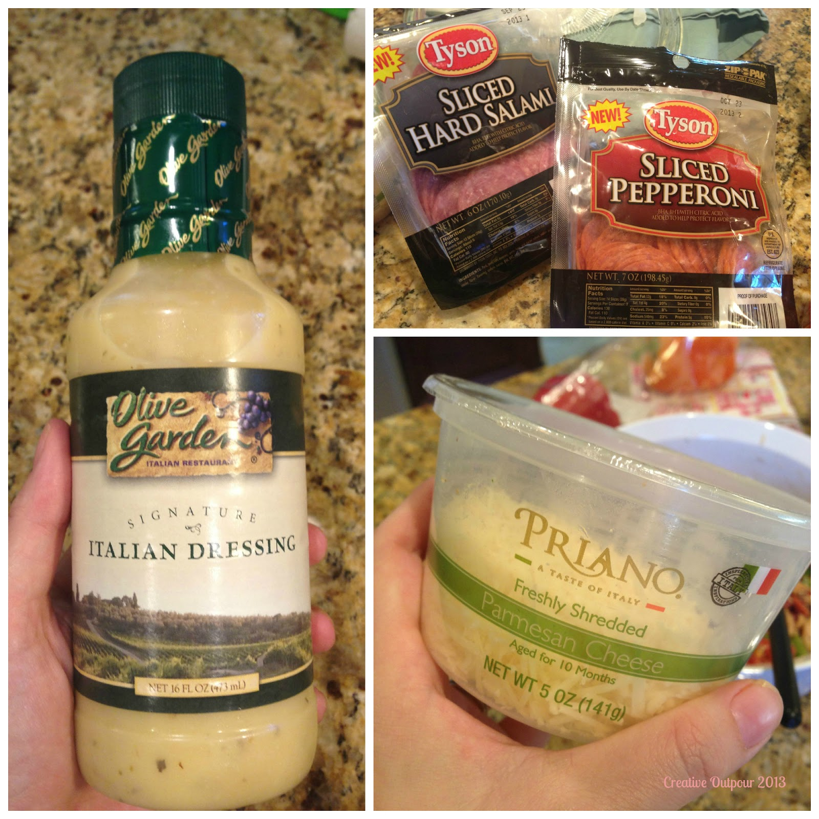 Creative Outpour Italian Bowtie Pasta Salad Using Tyson Foods 39 Sliced Salami Pepperoni