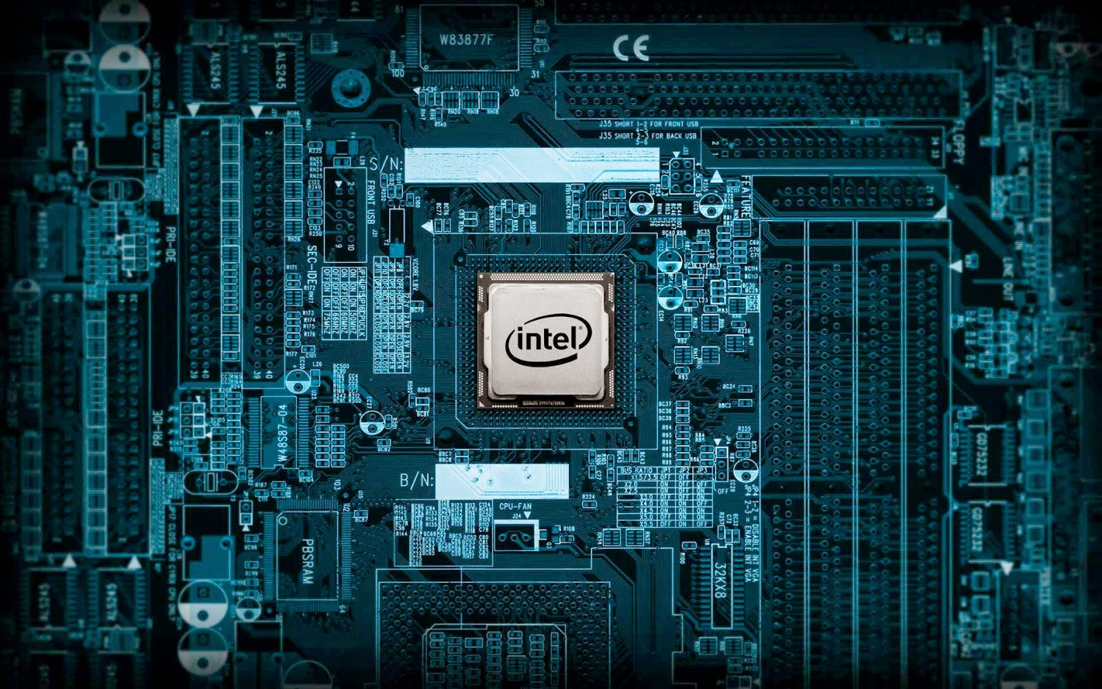 Papel de parede 3d para pc hd placa mãe Intel