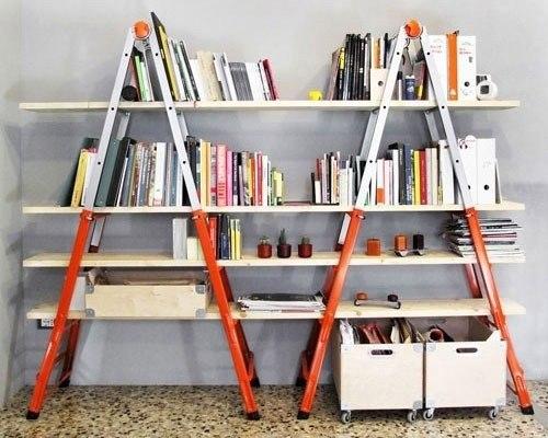 Mil ideas para la casa y el jardin librero con escaleras for Librero escalera