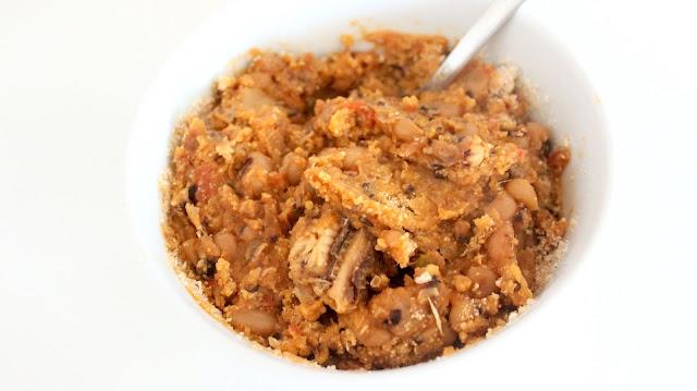 ghana beans stew gari