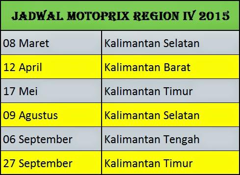 Jadwal Motoprix 2015 Region 4, 5, dan 6