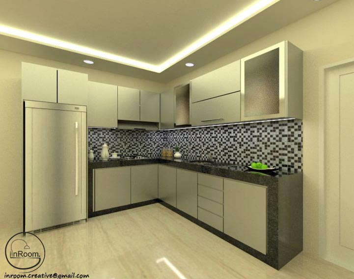 Inroom Creative Architecture And Design Kitchen With Hpl Silver