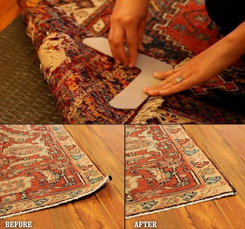 How To Stop Furniture Sliding On Hardwood And Tile Floors Rugs Curling With These Corner Weights