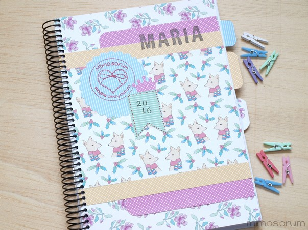 Mimosorum c mo hacer portada para agenda diy notebook covers - Como decorar una agenda ...