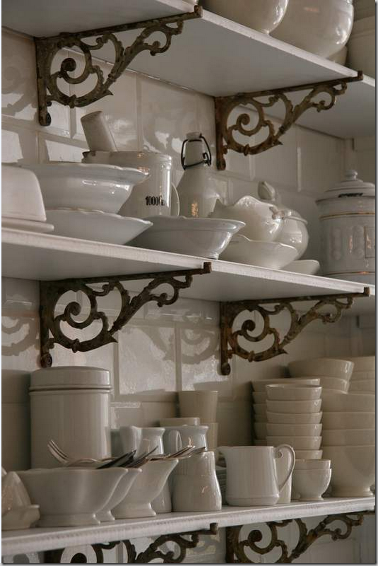 Modern country style country kitchen rule three open for Off the shelf kitchen units