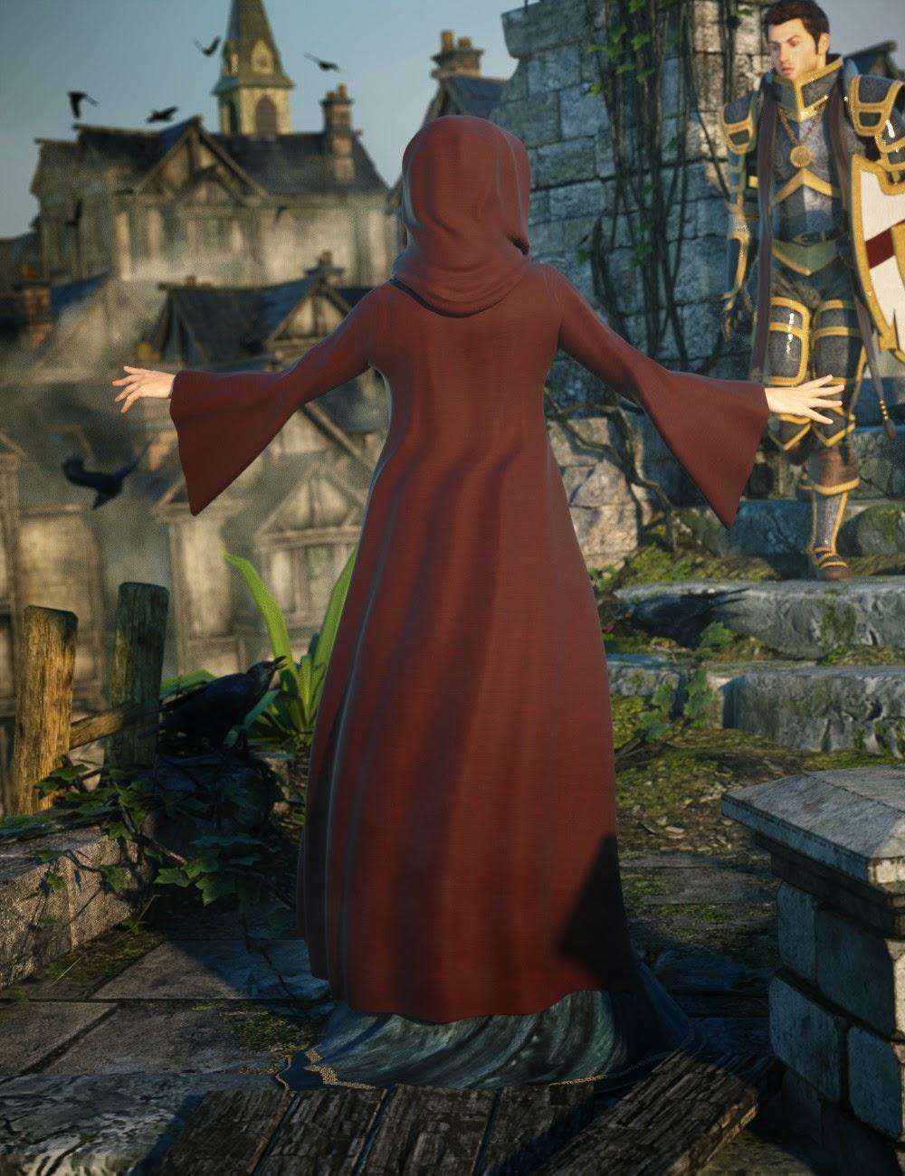 Hooded Cloak Pack for Genesis