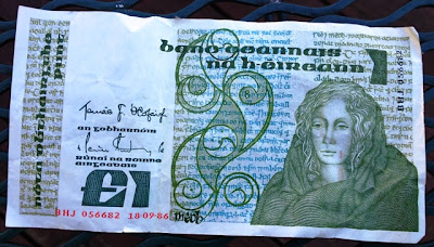 An Irish Punt / Pound in old money (Photo: Jim Lowney)