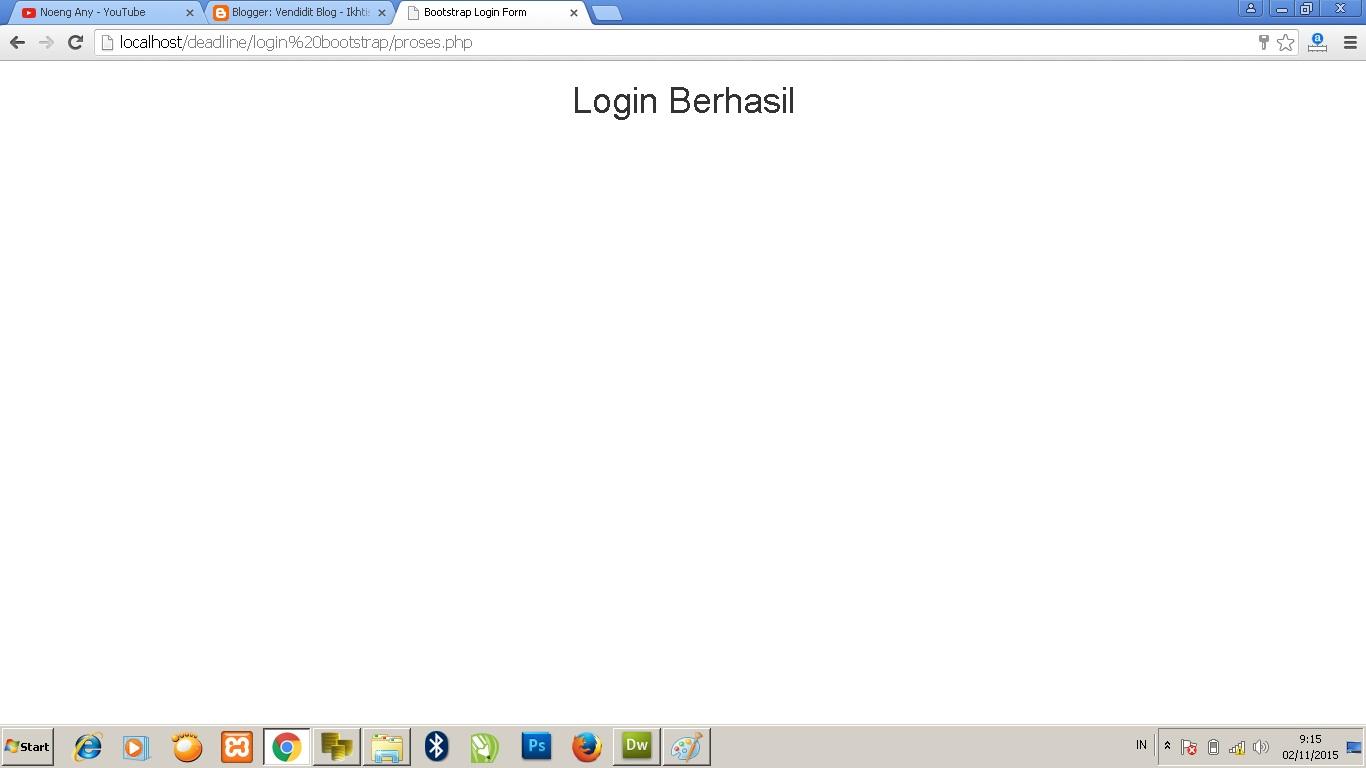 Cara membuat form login bootstrap dan mysql vendidit blog jika login berhasil falaconquin
