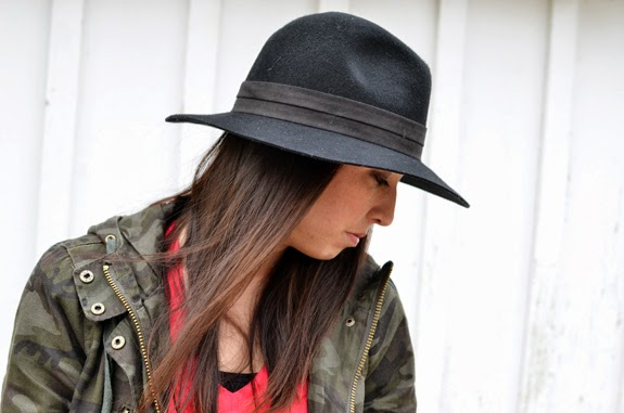 side profile of felt hat