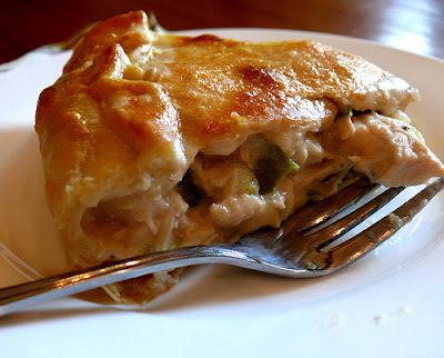 chicken n leek pie 4 cups cooked chicken meat in short shreds 1 large ...