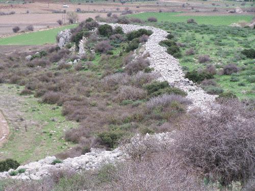 Τμήμα τείχους της Ακρόπολης του Γλα