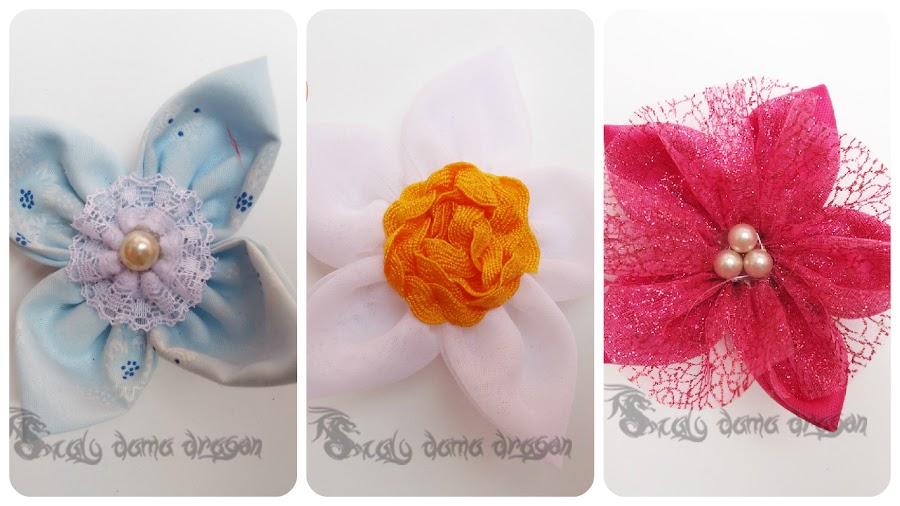 Mini flores de tela
