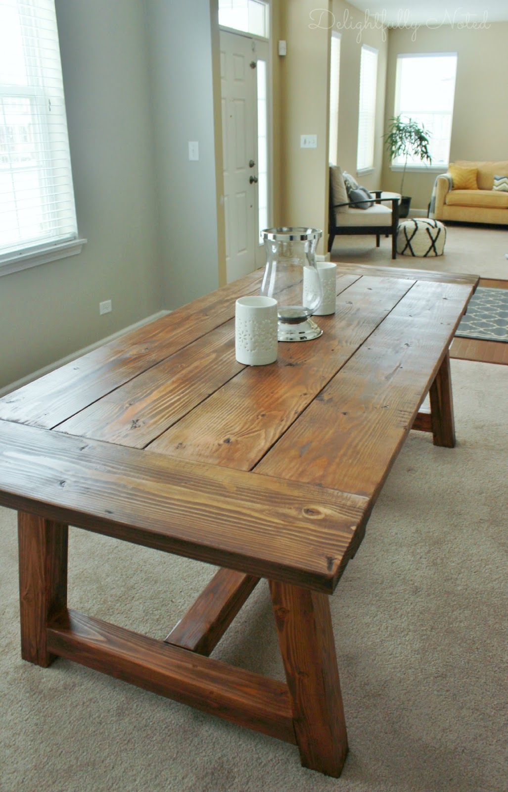 Holy cannoli we built a farmhouse dining room table delightfully noted - Dining room table images ...