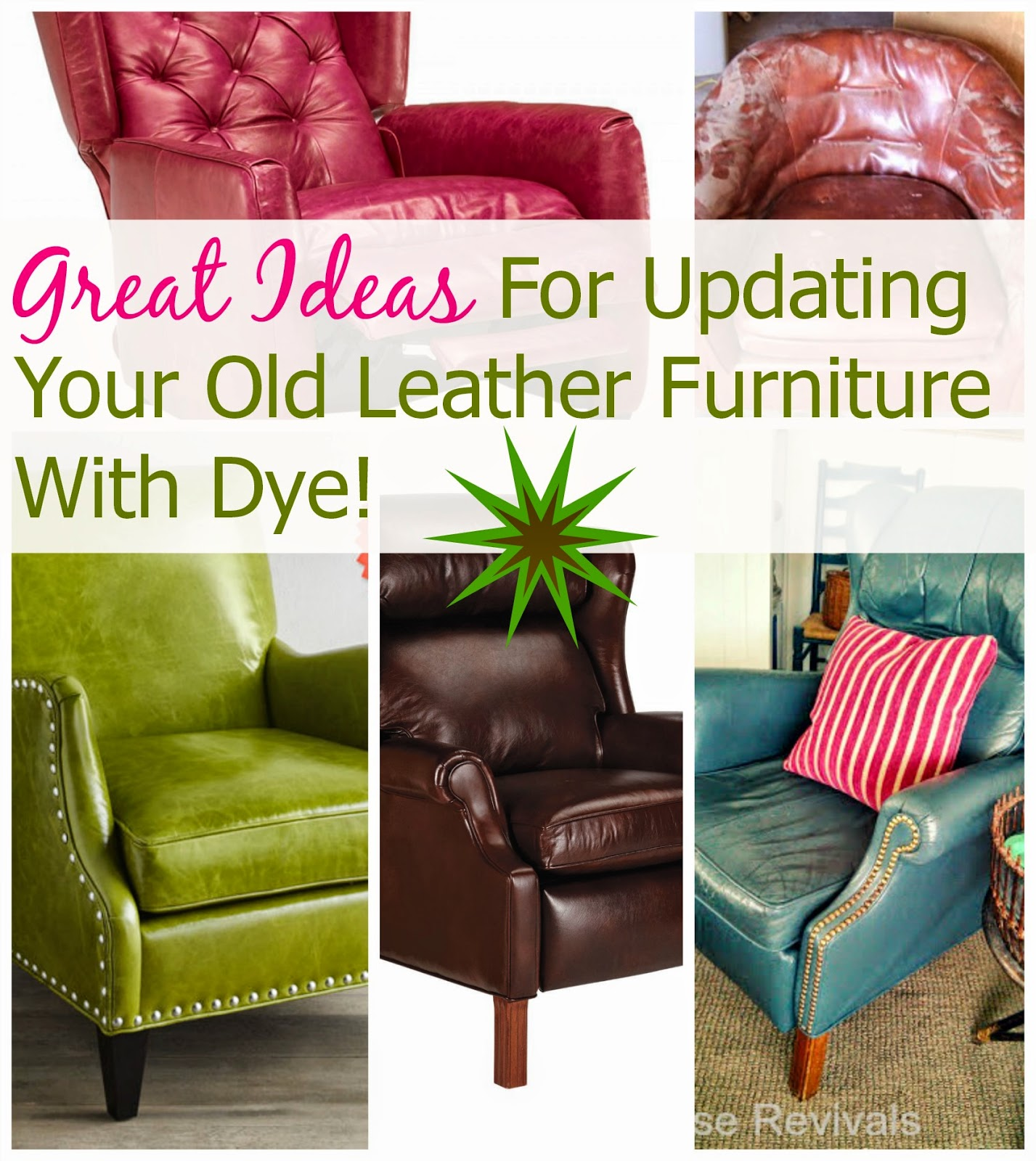 Leather Sofa Makeover House Revivals How To Dye A Leather Sofa Or Chair