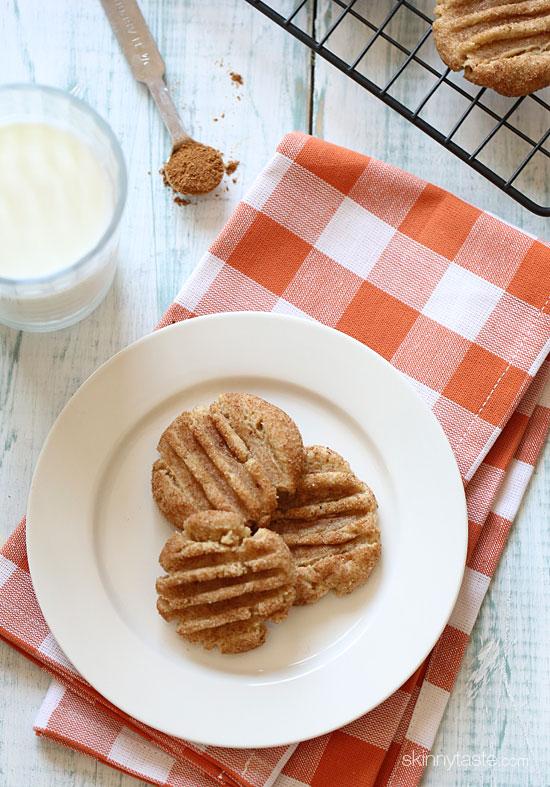 pumpkin spiced snickerdoodle cookies Skinny Pumpkin Spiced Snickerdoodles