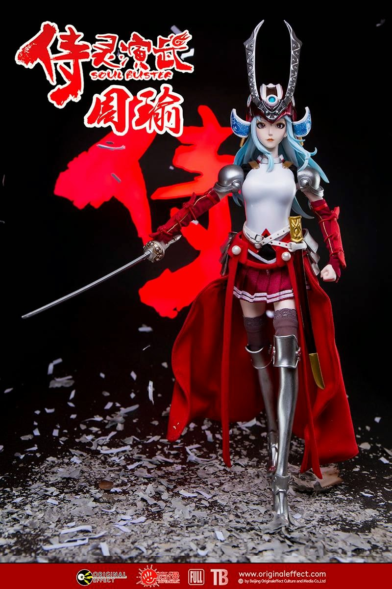 Toyhaven Check Out This Original Effect 1 6 Scale Soul Buster Female Oe Zhouyu 12 Inch Samurai Action Figure Features Head Sculpt With Movable Eyes