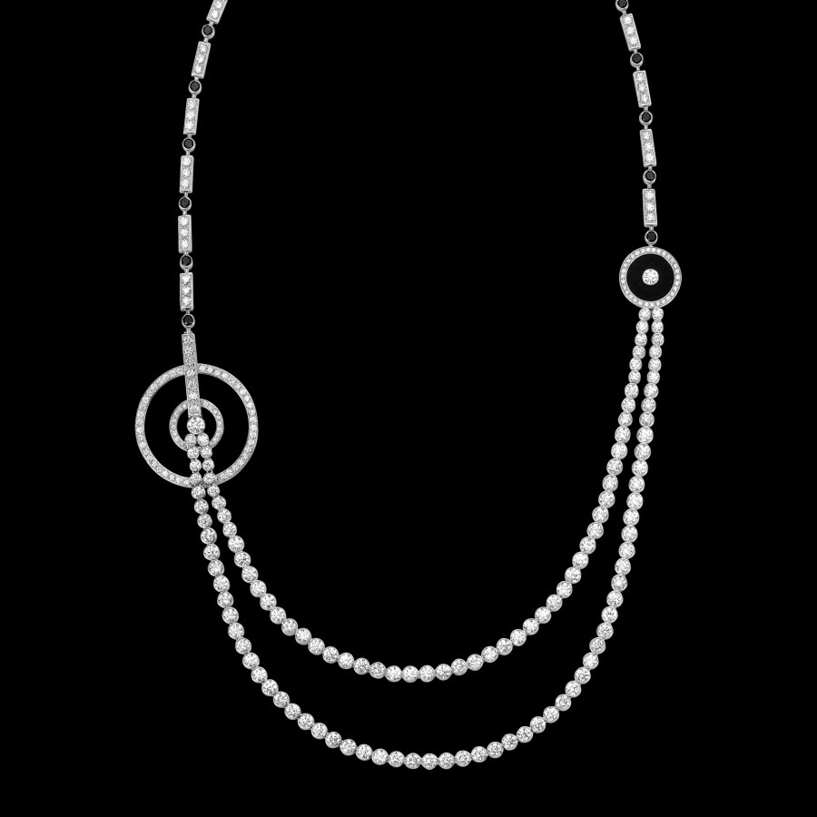Long 18k white gold Limelight Garden Party Necklace