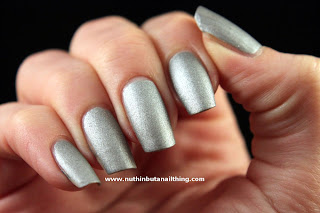 w7 silver suede effects nail polish