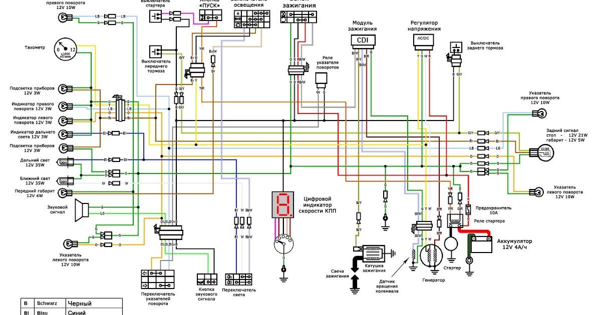 Схема электропроводки мопеда дельта