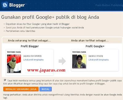 Cara Merubah Profil Blogger Menjadi Profil Google plus