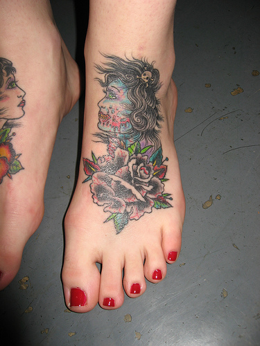 heart tattoos on foot. Foot Tattoos; Foot Tattoos