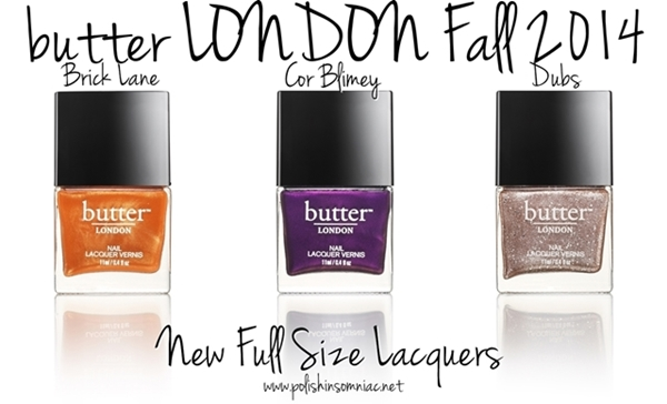 butter LONDON Brick Lane will feature 3 brand new shades - Brick Lane, Cor Blimey and Dubs