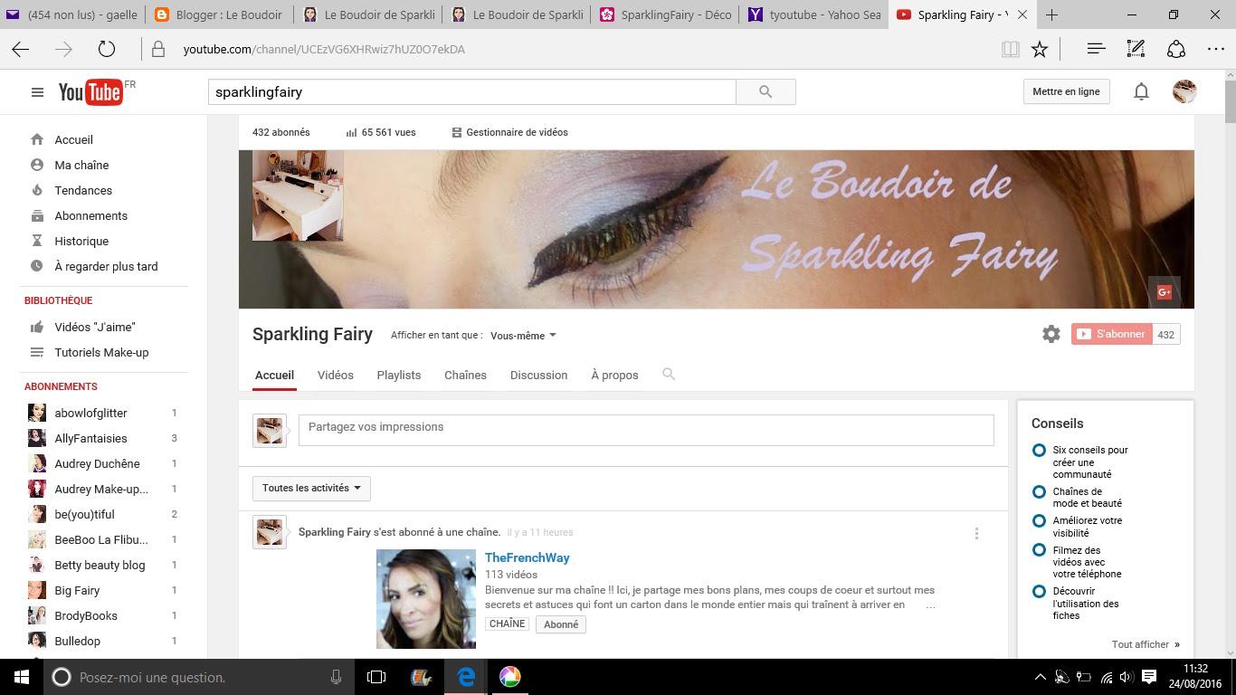 Retrouvez-moi aussi sur Youtube !