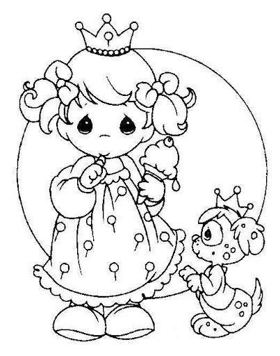 Las Princesas para Colorear: Princesas Bebes Para Colorear e imprimir