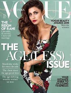 Rani Mukherji Stunning Ageless Pic from Vogue India Magazine August 2015 in a Dolce and Gabanna Dress