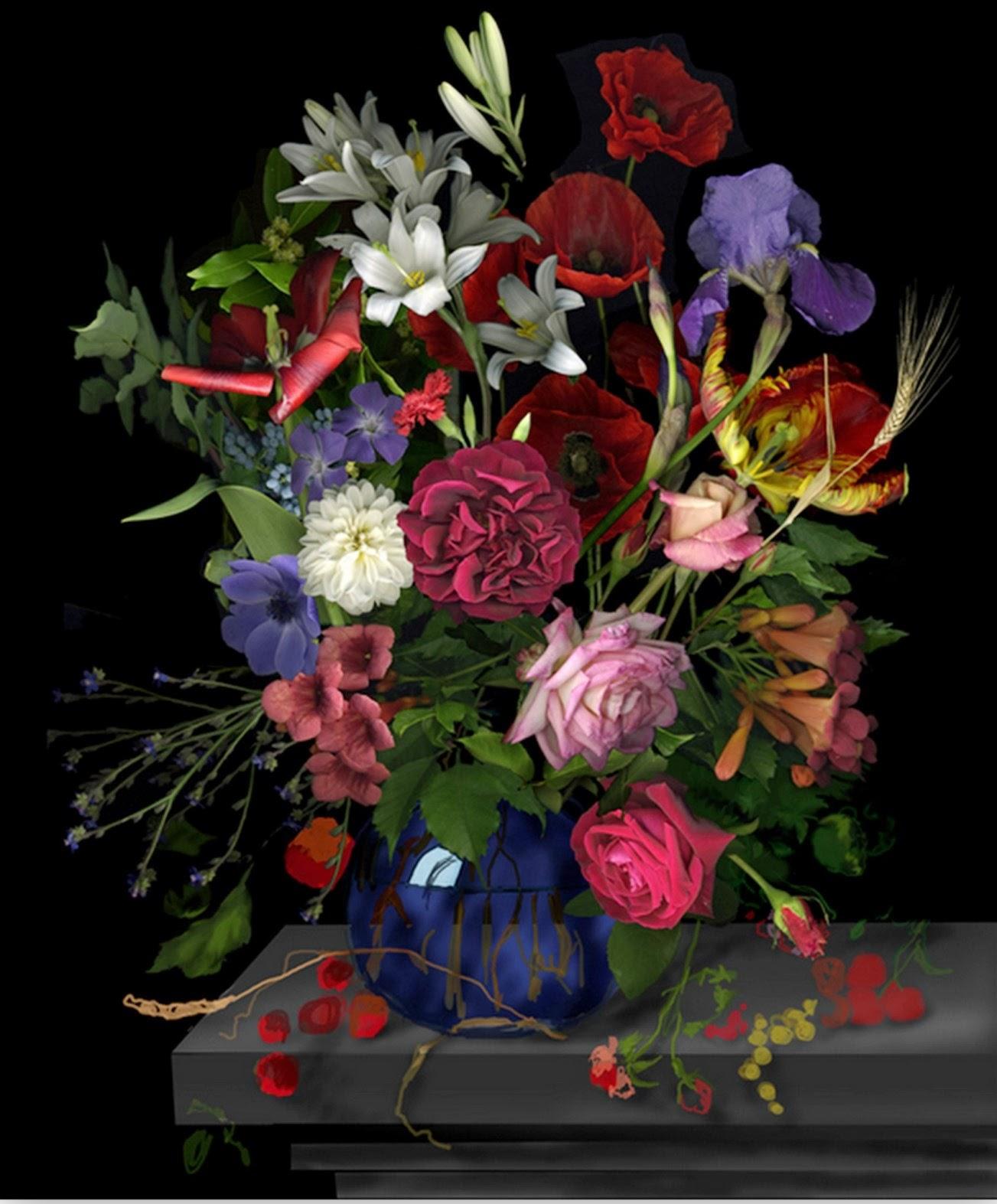 Fotos De Flores Rosas Rojas Y Arreglos Florales , Fotos de Ramo de rosas y flores