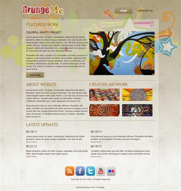 Grunge Me - Free Wordpress Theme