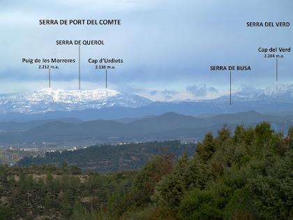 Panoràmica del Pre-pirineu des del Mirador de la Serra de Vallhonesta