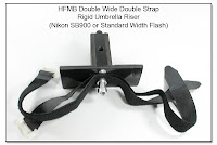 HFMB Double Wide Double Strap with Rigid Umbrella Riser - Flat Plate for Nikon SB900