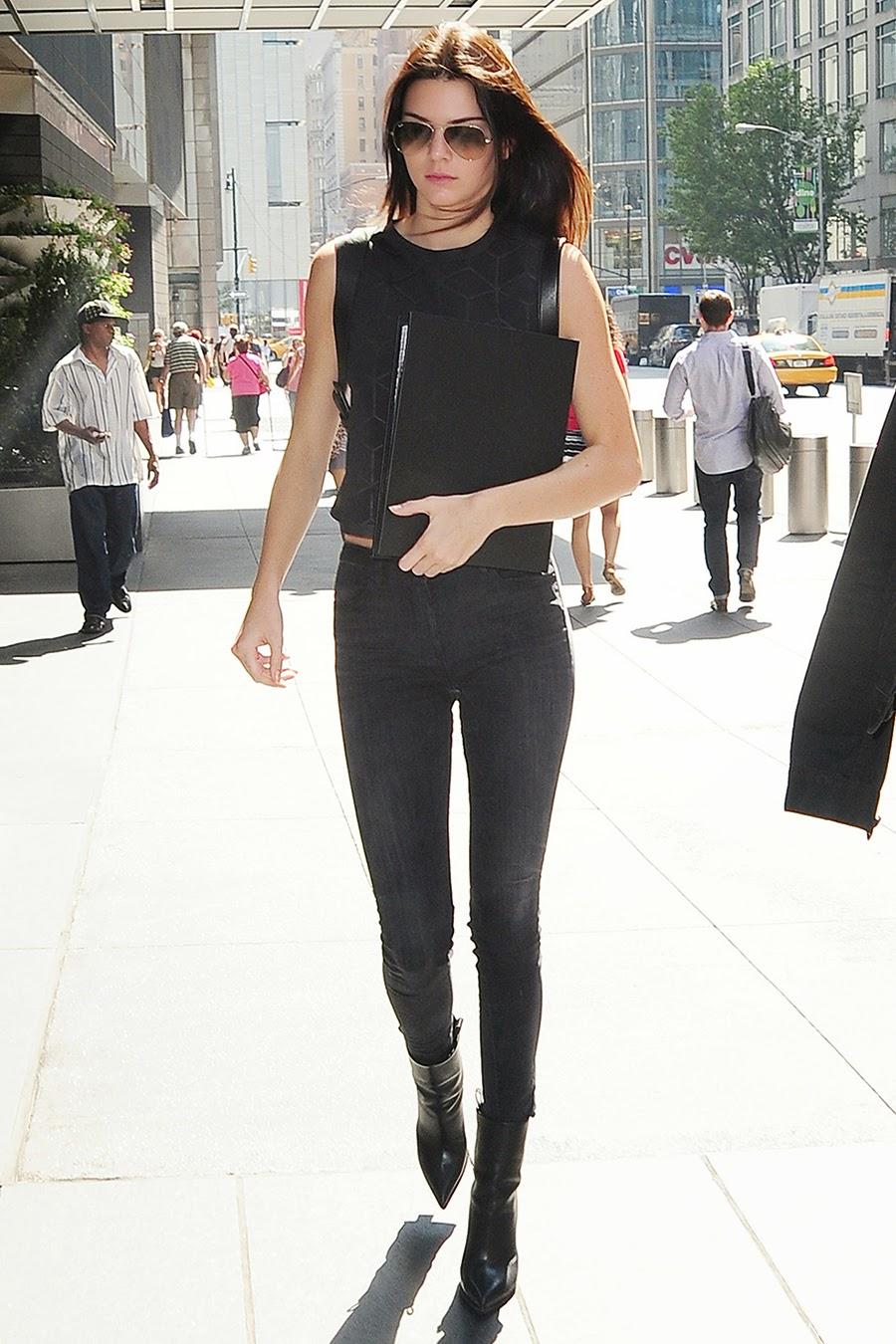 bag celine - Kendall Jenner out in New York City, New York - September 2, 2014 ...