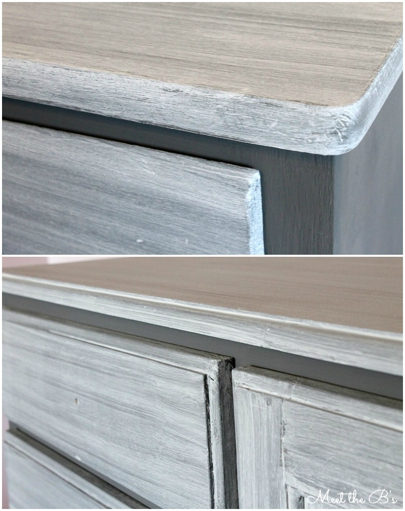 Paint Wash On Wood Grey Washed Chalk Paint Dresser Makeover The Inspired Hive