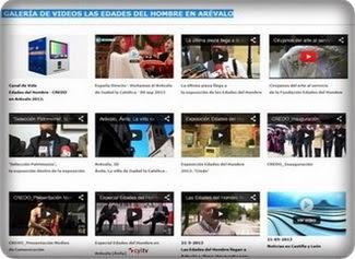 """Galería de vídeos de Arévalo y Las """"Edades del Hombre"""""""