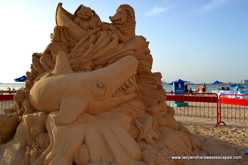 sand sculpture at JBR beach