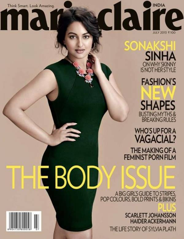 Sonakshi Sinha Marie Claire July 2013 Magaine Photoshoot