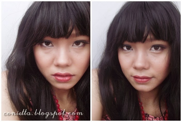 Aku menggunakan wig hitam dan TARAAA!! jadilah makeup ala Taeyeon ...