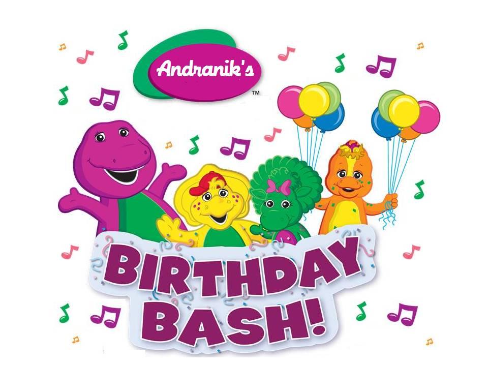 Enjoy Teaching English: BARNEY BIRTHDAY PARTY