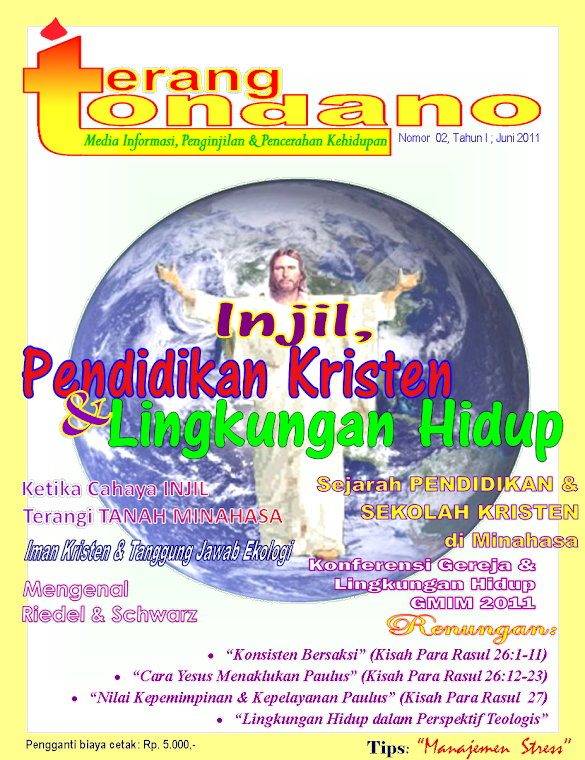 "Cover ""Terang Tondano"" edisi 2"