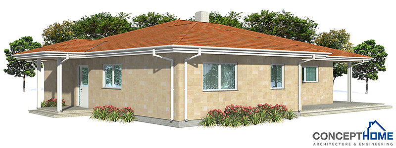 Affordable home plans affordable home plan ch121 for Economical house plans