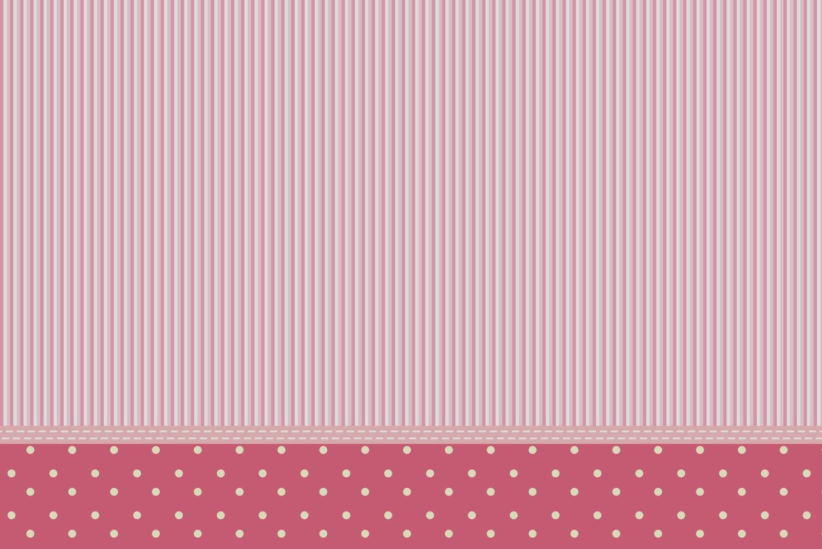 Free Printable Pink Polka Dot Stripes