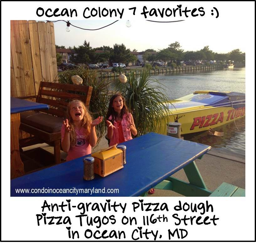 Ocean Colony 7 favorite pizza in Ocean City, MD