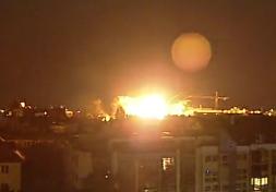 explosion de una bomba de la segunda guerra mundial