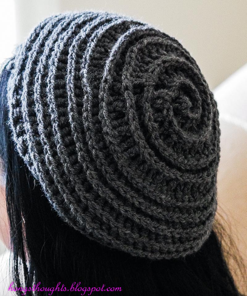 Crochet Hat Pattern Spiral : Hongs Thoughts: Crochet Spiral Hat!