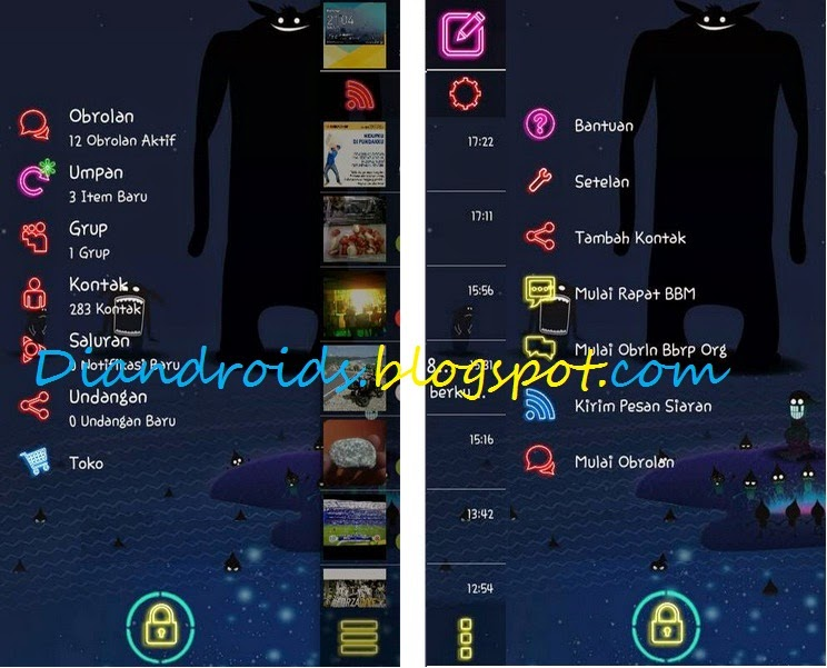 download BBM MOD Transparaent Neon Style Full Theme Apk 2.7.0.23